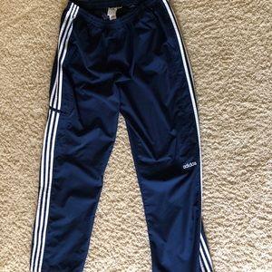 Adidas Navy Track pants white stripes sz  XXL